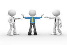 Businessman. 3d people - man, person talking. Businessman separated Stock Images
