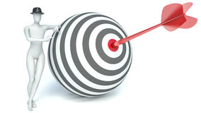 3d people - man, person with targets and arrows Stock Photo