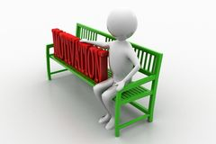 3d people - man sitting with motivation text Royalty Free Stock Photo