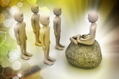 3d people in meditation Royalty Free Stock Photo