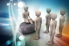 3d people in meditation Stock Photos