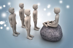 3d people in meditation Stock Photography