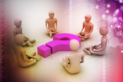 3d people in meditation Stock Images