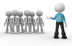 My team. 3d people - men, person group. Leader and my team. Businessmen Royalty Free Stock Images