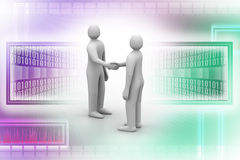 3d people - men, person talking Royalty Free Stock Photo