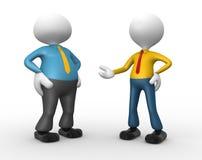 Businessman. 3d people - men, person talking. Businessman Royalty Free Stock Image