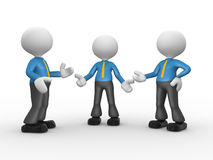 Businessman. 3d people - men, person talking in group. Businessman Royalty Free Stock Images
