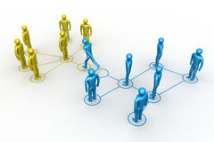 3d people - men. Person together Stock Image