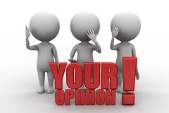 3d people - men, person  , Your opinion Stock Photo