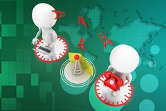 3d people message transfer illustration Stock Photography