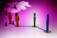 3d people in a network Royalty Free Stock Photography