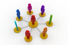 3d people in a network Stock Photo