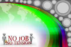 3d people with no job no tension Illustration Royalty Free Stock Photography