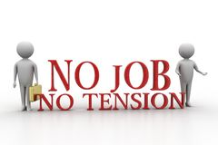 3d people with no job no tension Stock Photography