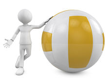 3d people. person with a volleyball ball Stock Photography