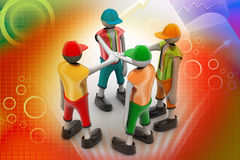 3d people promising. In color background Royalty Free Stock Images