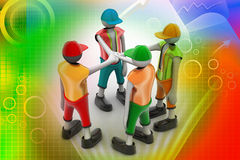 3d people promising. In color background Royalty Free Stock Photos