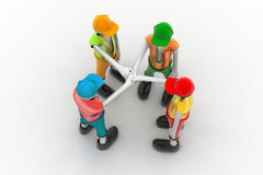 3d people promising. In white color background Royalty Free Stock Photo