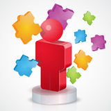 3D People Puzzle Royalty Free Stock Photos
