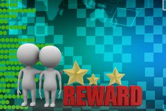 3d people with reward illustration Stock Photography