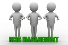 3d people with risk management concept Royalty Free Stock Images