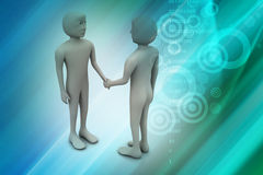 3d people are shaking hands Stock Photo