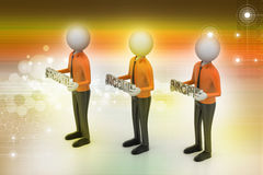 3d people showing the business aims Stock Photo