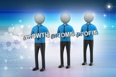 3d people showing the business aims Stock Photography