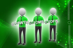 3d people showing the business aims Royalty Free Stock Photography