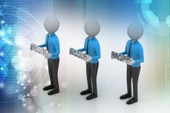3d people showing the business aims Royalty Free Stock Photos