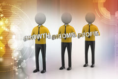 3d people showing the business aims Stock Image