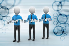 3d people showing the business aims Stock Images