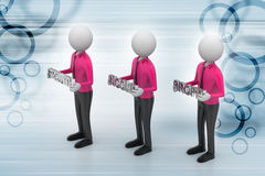 3d people showing the business aims Royalty Free Stock Photo