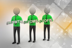 3d people showing the business aims Stock Photos