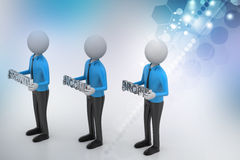 3d people showing the business aims Royalty Free Stock Image