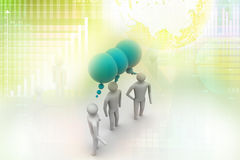 3d people and speech bubbles. 3d people  and speech bubbles in attractive color Stock Photos