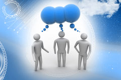 3d people  and speech bubbles Royalty Free Stock Photography