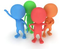 3d people stand on white. Business, teamwork, partnership concept Royalty Free Stock Images