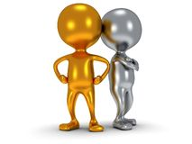 3d people stand on white. Business, teamwork, partnership concept Stock Photography