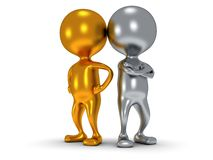 3d people stand on white. Business, teamwork, partnership concept Royalty Free Stock Photography