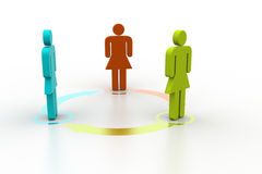 3d people standing in arrow circle Royalty Free Stock Images