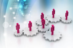 3d people standing on the gear Stock Images