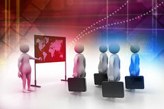 3d people studying the market condition Royalty Free Stock Photo