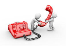 3d people talking on telephone royalty free illustration