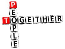 3D People Together Crossword Royalty Free Stock Images