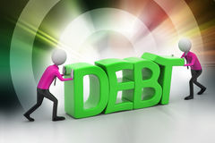 3d people try to avoid debt Stock Photo