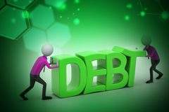 3d people try to avoid debt Stock Images