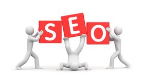 3d people and word SEO. Improvisation on SEO Stock Images