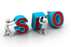 3d people and word seo Royalty Free Stock Images
