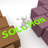 3D People with word Solution Royalty Free Stock Image